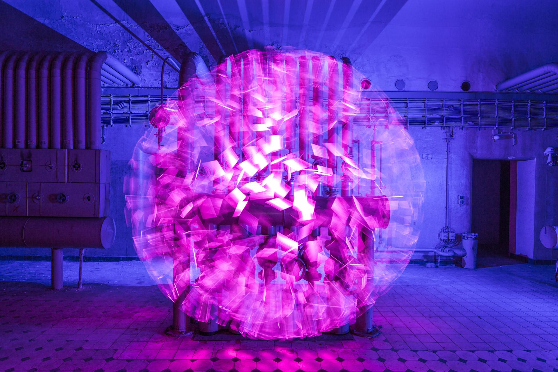 Lightpainting Volksbad Nürnberg Lumenman